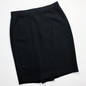LOFT Simple Black Pencil Skirt - Size 0